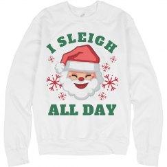 I Slay All Day Christmas Santa