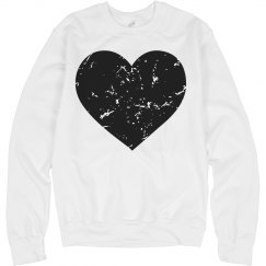 Distressed Black Heart