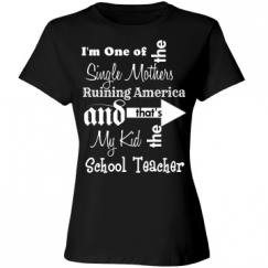 Single Teacher of School Teacher