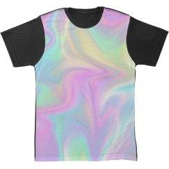 Hologram All Over Print Grunge Tee