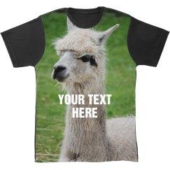 Custom All Over Print Llama T-Shirt