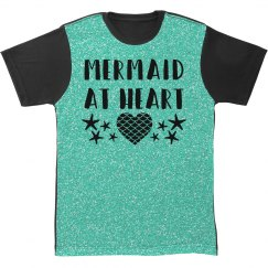 Mermaid All Over Turqoise Print