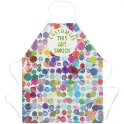 Custom Water Color Printed Smock