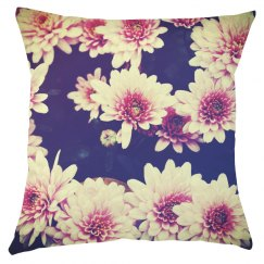 All-Over Flower Print Pillow