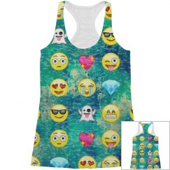 All Over Print Emoji Tank