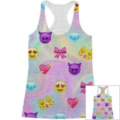 Emoji Hologram All Over Print Tank