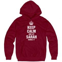 Let Sarah handle it