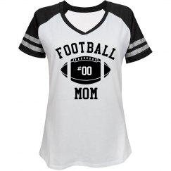 Custom Bling Football Mom