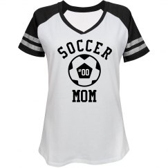 Custom Rhinestone Bling Soccer Mom