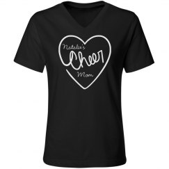 Cute Cheer Mom Shirt With Custom Name