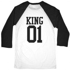 Matching King Queen Raglan Guy