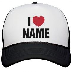 Custom V-Day I Heart Love Hat