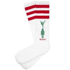 Christmas Stunting Cheer Socks With Name