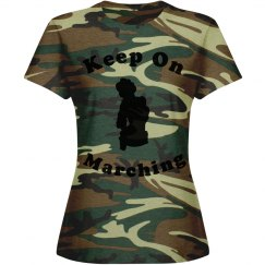 Keep on marching womans T-shirt
