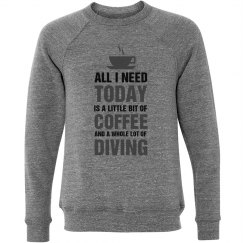 A little bit of coffee and a whole lot of  diving shirt