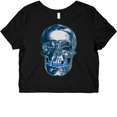 Blue Chrome Skull Shirt