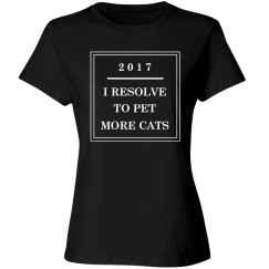 Pet More Cats This Year Resolution