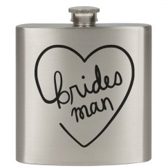Bride's Man Flask Bridal Party Gift
