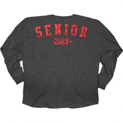 Red Metallic 2017 Seniors Jersey