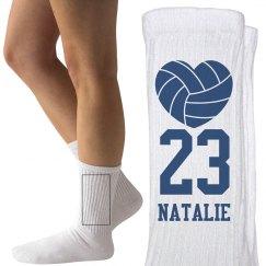 Natalie Volleyball Socks