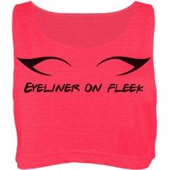 Eyeliner on fleek croptop