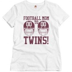 Budget Priced Football Mom to Football Twins Shirt