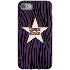 Zebra Destressed iPhone