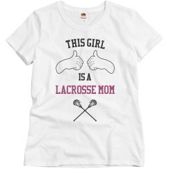 This girl lacrosse mom