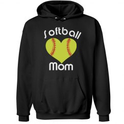 Heart Softball Mom