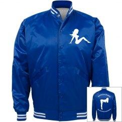Royal Blue Varsity Pin Up Jacket