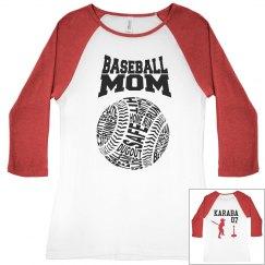 BASEBALL MOM TBALL SHIRT
