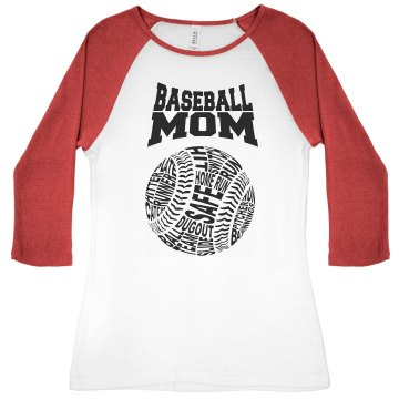 BASEBALL MOM TBALL SHIRT AMO Apparel