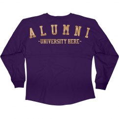 Metallic Custom Alumni Jersey