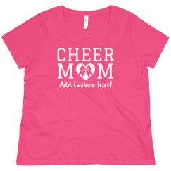 Curvy Cheer Mom Custom Tee