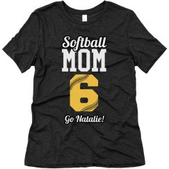 Softball Mom Shirt in Customizable Team Colors