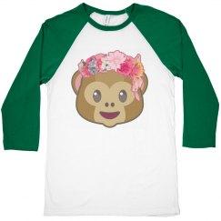 Emoji Floral Monkey