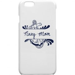 White Navy Mom iPhone 6 Case