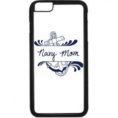 Black and White Navy Mom iPhone 6 Plus Case