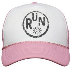 Run Happy distressed hat