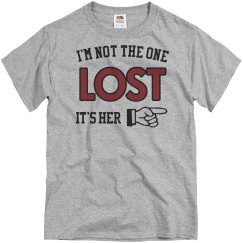 I'm not lost she is
