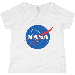 Nasa Logo Curvy V-Neck