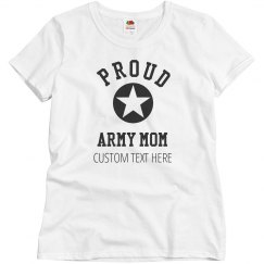 Custom Proud Army Mom Star