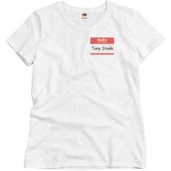Misses CA:CW Tony Stank Shirt