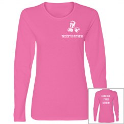 """Basic Pink """"Conquer From Within"""" Long Sleeve Tee"""