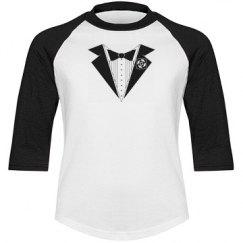 T-shirt with Tuxedo Print