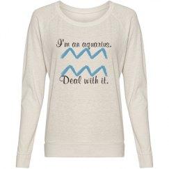 aquarius zodiac pullover.