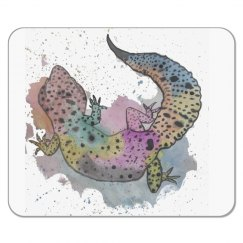 Water Color Leo Mouse Pad