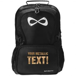 Custom Metallic Text Bag
