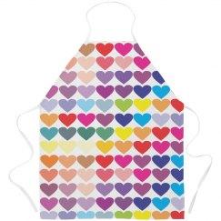 Colored Love Apron