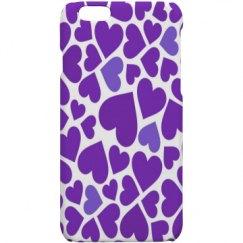 Pretty Purple Hearts Iphone Case